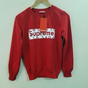 red sweatshirt supreme